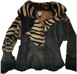 Herve Leger Brown Rabbit Jacket for Women Vintage