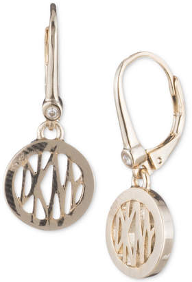 Dkny Logo Circle Drop Earrings