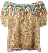 Peter Pilotto embroidered lace bardot top