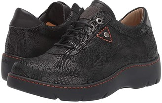 Wolky Fantasy (Black Palm Metal Suede) Women's Shoes