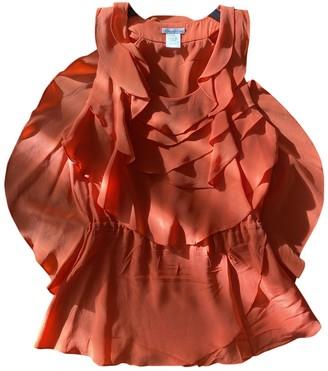 Oscar de la Renta Orange Silk Top for Women