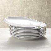 Crate & Barrel Set of 8 Essential Dinner Plates