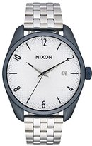 Nixon Women's 'Bullet, Navy' Quartz Stainless Steel Automatic Watch, Color:Silver-Toned (Model: A418-1849-00)