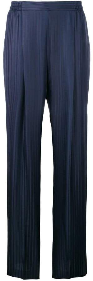 Stella McCartney plissé wide-leg trousers
