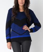 Yuka Paris Purple & Black Chevron Vero Sweater
