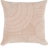 Kelly Behun Studio Laser-Etched Suede & Linen Pillow-PINK