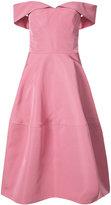 Christian Siriano off-shoulder A-line dress