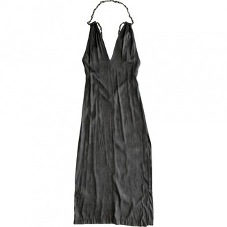 Diesel Black Gold Anthracite Silk Dress for Women