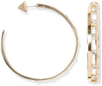 Vince Camuto Large Pave Hoop Earrings