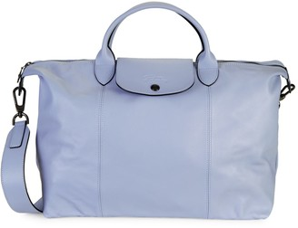 Longchamp Le Pliage Leather Moonshot Top Handle Bag