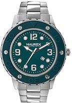 Haurex Italy Women's 7D371DBB Vivace Teal Dial Stainless Steel Date Watch
