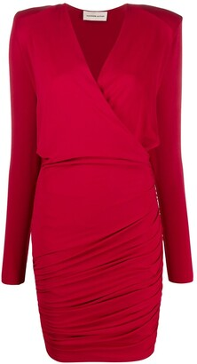 Alexandre Vauthier Fitted Wrap Dress