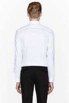 Paul Smith White twill contrasting bib-front shirt