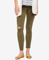 J Brand Maternity Jungle Green Wash Skinny Jeans