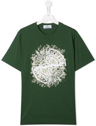 Stone Island Junior TEEN compass logo print T-shirt
