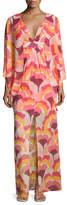 Trina Turk Blossom Floral Stretch Silk Maxi Dress, Multicolor