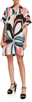 Natori Papillon Abstract Printed Shift Dress