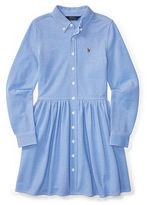 Ralph Lauren 7-16 Knit Cotton Oxford Dress