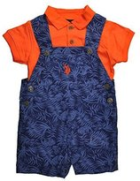 U.S. Polo Assn. Baby Boys & Blue 2pc Printed Shortall Set (3/6M)