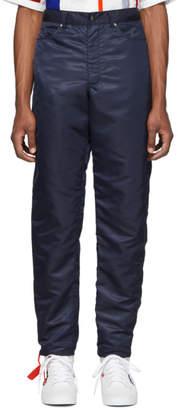 Landlord Navy Nylon Trousers