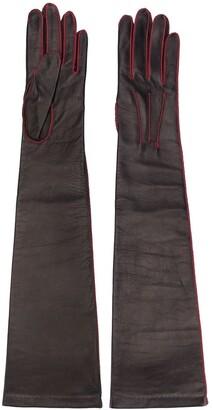 Manokhi Long Stitch Detail Gloves