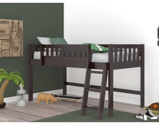 Os Home & Office Furniture OS Home and Office Model 82904-1 Espresso Twin Low Loft Bed