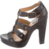 Frye Leather Cage Sandals