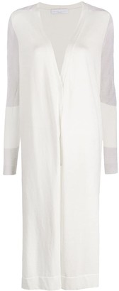 Fabiana Filippi Crinkled Sleeve Midi Coat