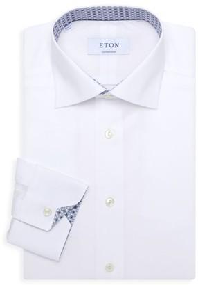 Eton Contemporary-Fit Medallion-Trim Dress Shirt