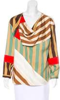 Celine Silk Stripe Print Top