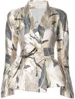 Natori peplum wrap jacket