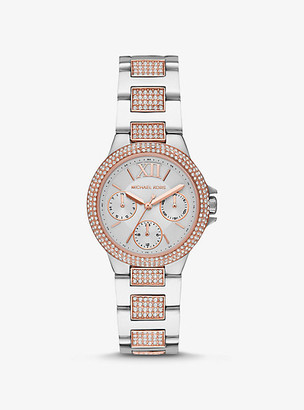 Michael Kors Mini Camille Pave Two-Tone Watch
