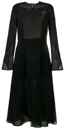 Olivier Theyskens Chiffon Mid-Length Dress