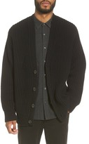 Vince Men's Distressed Ribbed Cardigan