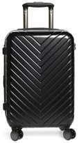 Nordstrom Chevron Spinner Carry-On Suitcase - Black