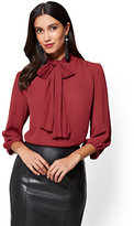 New York & Co. 7th Avenue - Pleated Bow Blouse