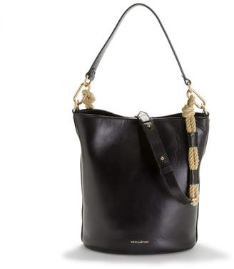 Vanessa Bruno Holly Bucket Bag in Smooth Leather