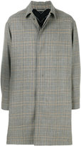 Lanvin single breasted checked coat
