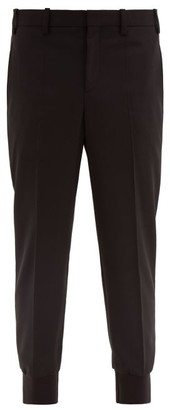 Neil Barrett Low-rise Fitted-cuff Tailored Trousers - Mens - Black