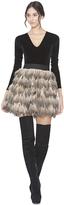 Alice + Olivia Natural/Multi Cina Mini Skirt