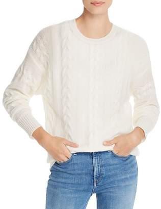 Aqua Cable-Knit Crewneck Cashmere Sweater - 100% Exclusive