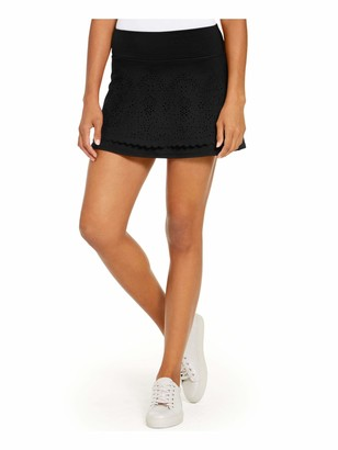 Ideology Womens Black Solid Micro Mini A-Line Skirt Juniors Size: L