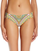 Trina Turk Women's Capri Shirred Side Hipster Bikini Bottom