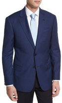 Armani Collezioni G-Line Houndstooth Wool Sport Coat, Navy
