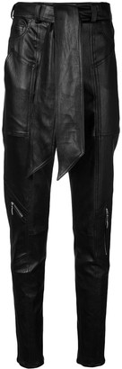 Talbot Runhof tapered belted trousers