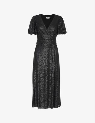 Whistles Sequin-embellished midi dress