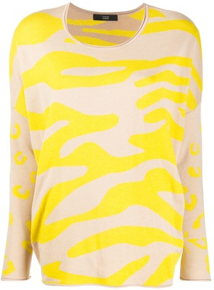 Steffen Schraut Abstract Print Sweater