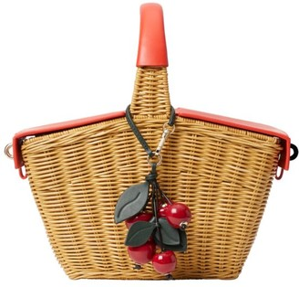 Kate Spade Picnic Cherries 3D Wicker Picnic Basket
