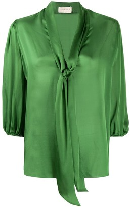 Alexandre Vauthier relaxed cropped sleeve blouse