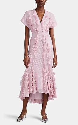 J. Mendel Women's Ruffled Silk Fil Coupé Dress - Lilac